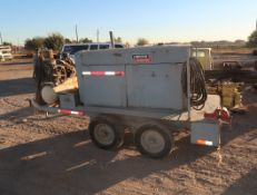 LINCOLN SAE 400 DC WELDER, SN. 778881, W/MILLER 22A WIRE FEED, INGERSOLL-RAND 12.5HP AIR COMPRESSOR,