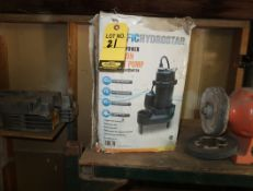 PACIFIC HYDROSTAR 1/2HP CAST IRON SEWAGE PUMP W/ TETHER FLOAT SWITCH