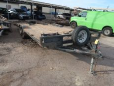 2009 8'X20' ARIZONA TM 7000LB FLATBED TRAILER VIN: 5J3RV20219A036476
