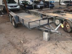 5.5'X12' DUAL AXEL TRAILER W/ SIDE RAILS