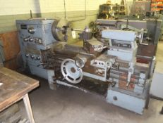 """EDELSTAAL MDL. 800X1000 GAP BED ENGINE LATHE W/ 5"""" THRU HOLE, TRACER ATTACHMENT, 20"""" ROHM 3-JAW"""
