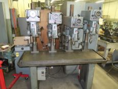 CLAUSING 4 HEAD PRODUCTION DRILL BANK