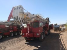 2006 SCHRAMM T-130XD DRILL RIG, SN. J130-0154 MOUNTED ON CRANE CARRIER, VIN. 1CYDGV6846T047562