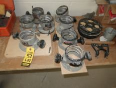 LOT PORTER CABLE ROUTER BASES (8)