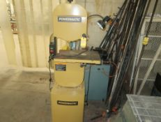 "POWERMATIC VERTICAL BAND SAW 14"", MDL. PWBS-14"
