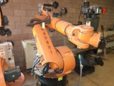 KUKA ROBITIC BODY W/ CONTROLLER & CRATE W/ EXTRA PARTS MDL. KR150L 150SP/2 SN. 785549