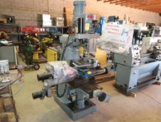 EDISON V130 VARI-SPEED MILLING MACHINE W/ IN TURN 4TH AXIS INDEXTING & LATHE HEAD TURNING ATTACHMENT