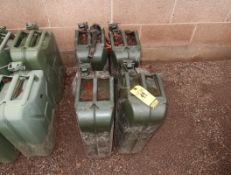 (4) 20L METAL GAS CANS