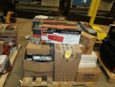 LOT NEW & USED TOOLBOXES, ASST WELDING ACCESSORIES, TORCHES, MAGNETIC WELDING CLAMPS, ETC.