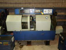 TORNOS ENC 167 CNC SWISS SCREW MACHINE HYD. UNIT, FANUC 16-T CONTROL, ROBOBAR SSF BAR FEED, (3)