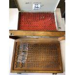 (2) PLUG GAGE SETS (1)VERMONT GAGE G61250 (1) GAGE MAKERS OBI.250