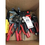 (LOT) MISC WIRE STRIPPERS AND WIRE CRIMPERS