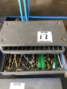 (1) 3 DRAWER DRILL INDEX WITH DRILLS
