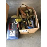 (LOT) MISC TIE DOWN STRAPS, WITH BOLTS EYE
