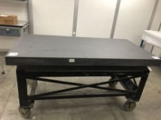 "(1) DO ALL 24""x72"" GRANITE SURFACE PLATE WITH CART"