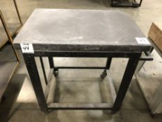 "(1) 24""x36 GRANITE SURFACE PLATE WITH CART"