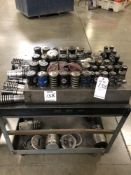 (LOT) TOOL CART WITH MISC TURRET PUNCH TOOLING