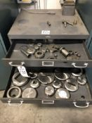 (LOT) COLE STEEL 11 DRAWER CABINET WITH MISC TURRET PUNCH HEADS