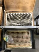 -2 (1) .250-.500 PIN GAGE SET (1) MEYER GAGE CO .059-.250 PIN GAGE SET