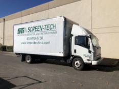 (1) 2014 Isuzu NPR HD Box Truck- 16' cargo bed, dually tires, V6 engine, ac/heat, am/fm/cd, vin-