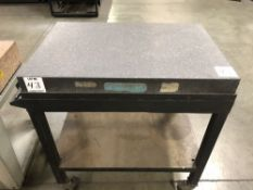"(1) STANDARD 25""x36"" GRANITE SURFACE PLATE WITH CART"