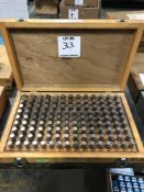 (1) GAGE MAKERS .501-.625 PIN GAGE SET