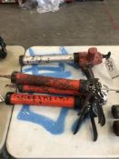 (3) HILTI CAULKING GUNS (1) ELECTRIC