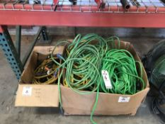 (LOT) LARGE LOT OF EXTENSION CORDS