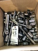 (LOT) MISC SOCKETS AND SOCKET WRENCHES