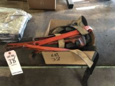 (LOT) MISC RIGID PIPE WRENCHES