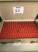 (1) VERMONT .061-.250 PIN GAGE SET