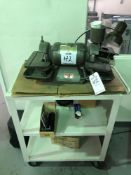 """(1) 6"""" DUAL WHEEL 1 HP BENCHTOP GRINDER WITH CART"""