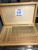 (1) MEYER .061-.250 PIN GAGE SET