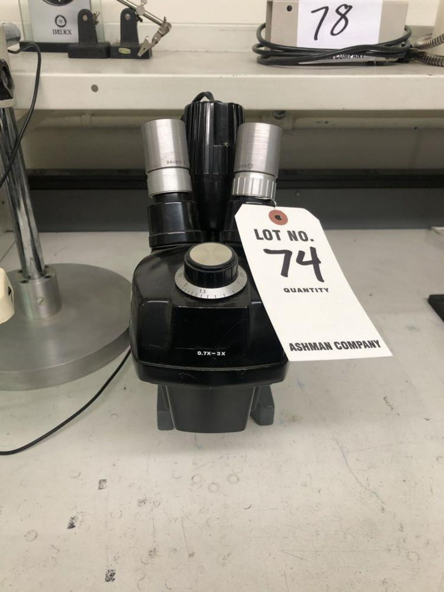(1) BAUSCH AND LOMB MICROSCOPE
