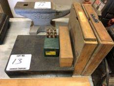 """(LOT) 10""""x12"""" GRANITE SURFACE PLATE, MISC NUMBER & LETTER PUNCHES"""