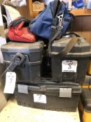 (4) DEWALT/HUSKY PORTABLE TOOL BOXES WITH TABLE