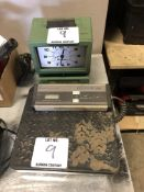 (2) 1 TIME CLOCK 1 OSTER ELECTRONIC SCALE