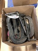 (LOT) MISC C-CLAMPS