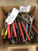 (LOT) MISC PLIERS, SHEARS, CRIMPERS, SNIPS