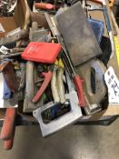 (LOT) MISC HAND TOOLS- PLANERS, HACK SAWS,