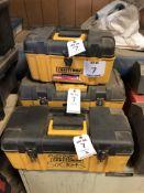 (3) CRAFTSMAN PORTABLE TOOL BOXES