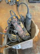 LOT OF MISC ELECTRIC ANGLE GRINDERS