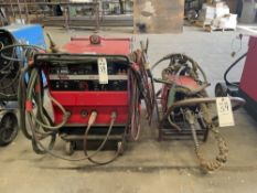 LINCOLN CV-300 WELDER WITH LINCOLN LN-7 WIRE FEEDER- S/N- U1971209608