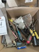 LOT OF MISC HAND TOOLS- FILES, SCRE DRIVERS, ALLEN WRENCHES, TAP SET