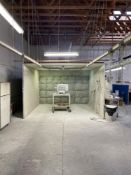 15'x15' PAINT SPRAY BOOTH WITH VENTILATION SYSTEM AND OVER HEAD CONVEYOR