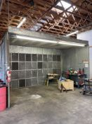 DEVILBLISS 12'x20' PAINT ARRESTOR TYPE SPRAY BOOTH WITH VENTILATION SYSTEM