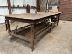 (1) 4'x10' WELDING TABLE