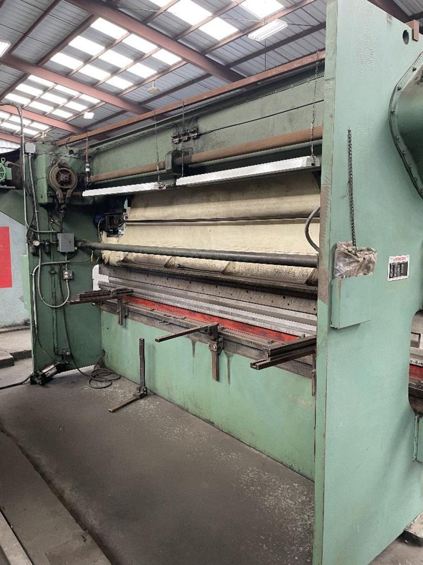 """(1) Verson Press Brake- 90 ton cap, 3"""" stroke, 12' brake, 12"""" shut height, s/n- 27190.3012.90 - Image 2 of 2"""