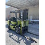 (1) Clark CGP30 Forklift- 5,500 lb cap, 2 stage mast, soft tires, side shift, 4' forks, 10,049