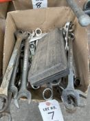 (LOT) MISC BOX & OPEN END WRENCHES